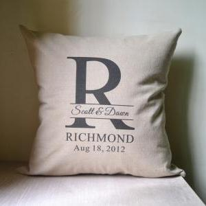 initial wedding pillow,decor pillow..