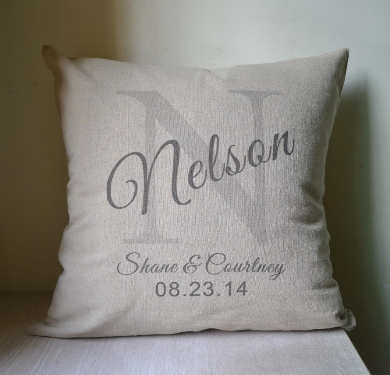 Shade Initial Personalized Pillow Cover Pillow Case
